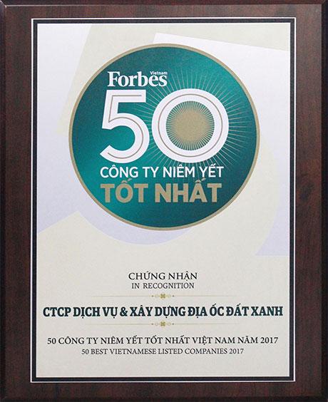 Chung nhan top 50 dat xanh group