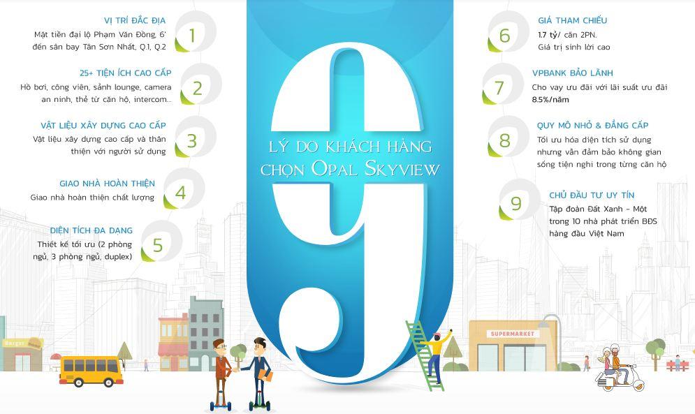 9 Lý do khách hàng lựa chọn căn hộ Opal Sky View