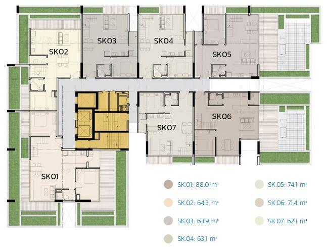 Mat bang chi tiet can ho Duplex Opal Sky View