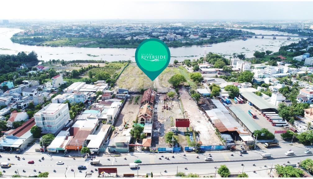 Tong the khu dat Saigon Riverside city thu duc tu tren cao
