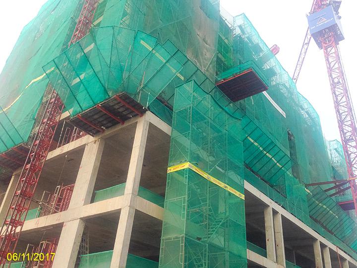 2.Tiến độ xây dựng Luxgarden tháng 11