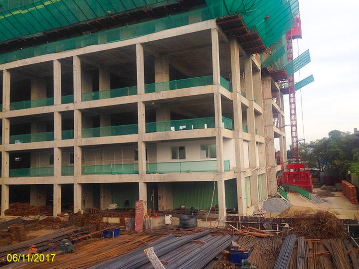 4.Tiến độ xây dựng Luxgarden tháng 11