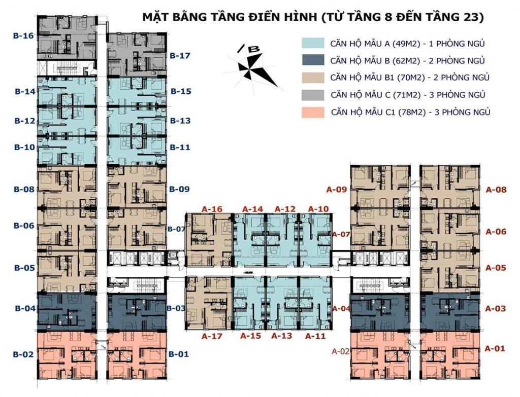 Mặt bằng chi tiết dự án căn hộ sunshine avenu quận 8