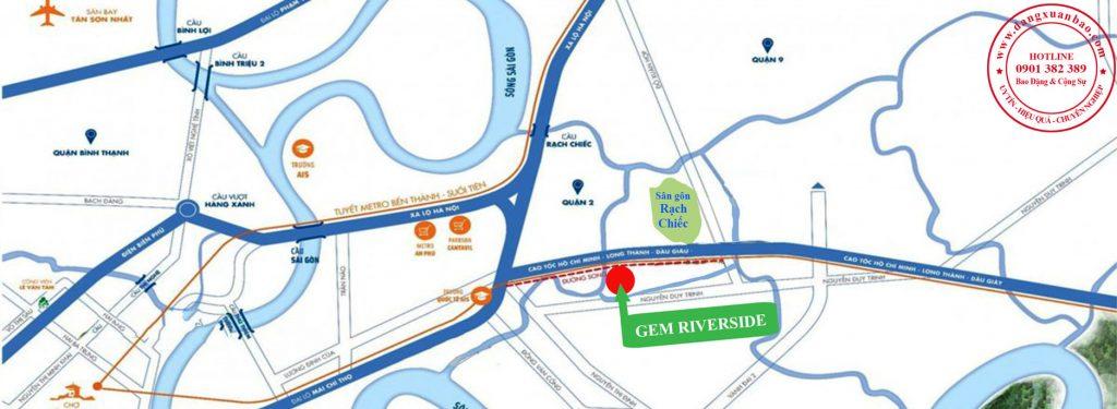 Vị trí dự án Gem Riverside Quận 2