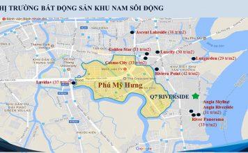 Ban do cac du an xung quanh Q7 Saigon Riverside Complex