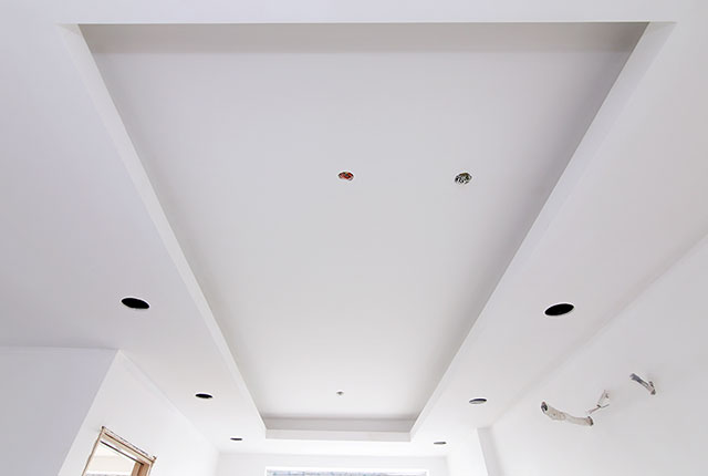 2.Hoàn thành thi công khung trần thạch cao căn hộ block B