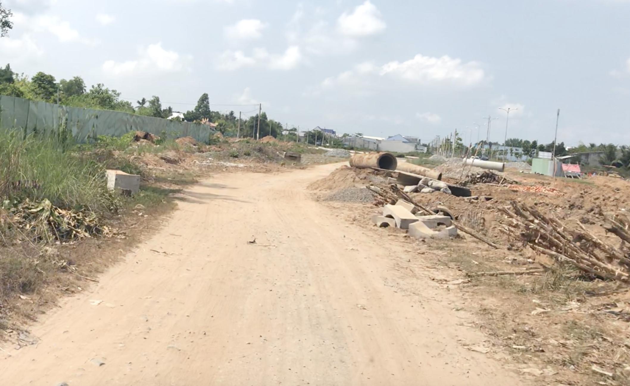 Đầu nối đường 19-4 vào dự án Vĩnh long new town