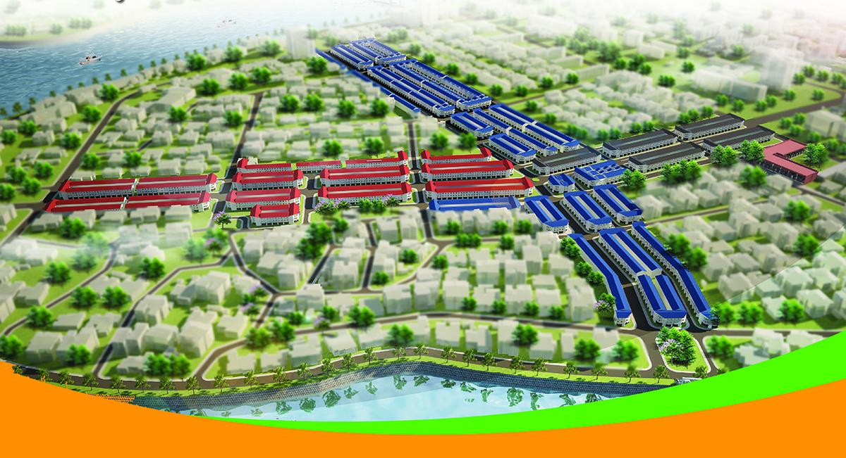 Mặt bằng thực tế khu dân cư đất nền phường 5 vĩnh long