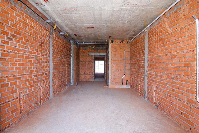 Xây tường bao căn hộ từ tầng 5 đến tầng 19 block Riches